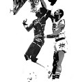Dr. J And Kareem by Ferrel Cordle