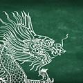 Dragon On Chalkboard by Setsiri Silapasuwanchai