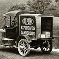 Du Pont Co. Explosives Truck Pennsylvania Coal Fields 1916 by Arthur Miller