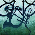 Dusk Shadows - Bicycle Art by Linda Apple