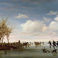 Dutch Landscape With Skaters by Salomon van Ruysdael
