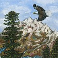 Eagle To Eaglets In Nest by Tanna Lee M Wells