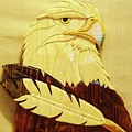 Eaglehead With Two Feathers by Russell Ellingsworth