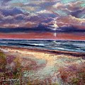 Early September Beach by Peter R Davidson