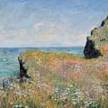 Edge Of The Cliff Pourville by Claude Monet