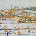 Effect Of Snow At Eragny by Camille Pissarro