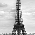 Eiffel Tower Black And White by Melanie Viola