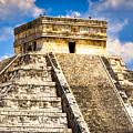 El Castillo - Pyramid At Chichen Itza by Mark E Tisdale