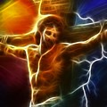 Electrifying Jesus Crucifixion by Pamela Johnson