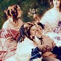 Empress Eugenie And Her Ladies In Waiting by Franz Xaver Winterhalter