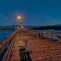 Empty Pier Glow by Connie Cooper-Edwards