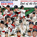 End Of The Curse Red Sox Newspaper Poster by Dave Olsen