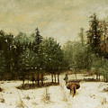 Entrance To The Forest In Winter by Cherubino Pata