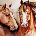 Equine Power By M Baldwin A Spirit Horse Original by Marcia Baldwin