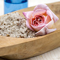 Exfoliating Body Scrub From Sea Salt And Rose Petals by Frank Tschakert