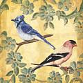Exotic Bird Floral And Vine 1 by Debbie DeWitt