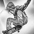 Extreme Skateboard Jump by Julie L Hoddinott
