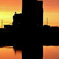 Eyebrow Gain Elevator Reflected Off Water After Sunset by Mark Duffy