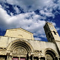 Facade Of A Benedictine Monastery In Saint-gilles by Sami Sarkis