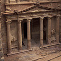 Facade Of The Treasury In Petra, Jordan by Richard Nowitz
