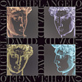Faces Of David In Negative by Barbara Lugge