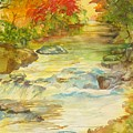 Fall On East Fork River by Kris Dixon