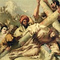 Fall On The Way To Calvary by G Tiepolo