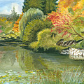Fall Reflections Butchart Gardens by Vidyut Singhal