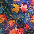 Falling Blue Leave by Marilyn Sholin