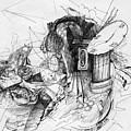 Fantasy Drawing 3 by Svetlana Novikova
