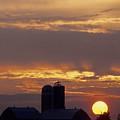 Farm At Sunset by Steve Somerville