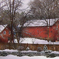 Farm - Barn - Winter In The Country  by Mike Savad
