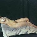 Female Figure Lying On Her Back by Dora Carrington