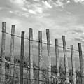 Fence At Jones Beach State Park. New York by Gary Koutsoubis