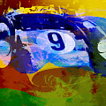 Ferrari Testarossa Watercolor by Naxart Studio
