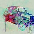 Fiat 500 Watercolor Print by Naxart Studio