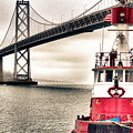 Fireboat and Bay Bridge HDR Print by Jarrod Erbe