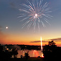 Fireworks And Sunset by Amber Flowers