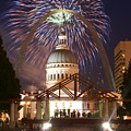 Fireworks At The Arch 1 by Marty Koch