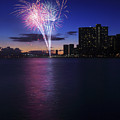 Fireworks Over Waikiki by Brandon Tabiolo - Printscapes