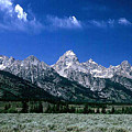 First View Of Tetons by Kathy McClure