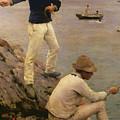 Fisher Boys Falmouth by Henry Scott Tuke