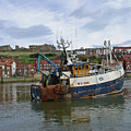 Fishing Trawler Wy 485 At Whitby by Rod Johnson