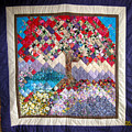 Flame Tree Quilted Wallhanging by Sarah Hornsby