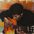Flamenco Guitar Player by Harvie Brown