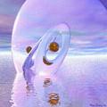 Floating Spheres IIi by Wayne Bonney