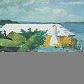 Flower Garden And Bungalow Bermuda by Winslow Homer