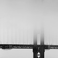 Fog At The Golden Gate Bridge 4 - Black And White by Wingsdomain Art and Photography