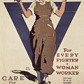 For Every Fighter A Woman Worker by Adolph Treidler