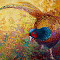 Foraging Pheasant by Marion Rose
